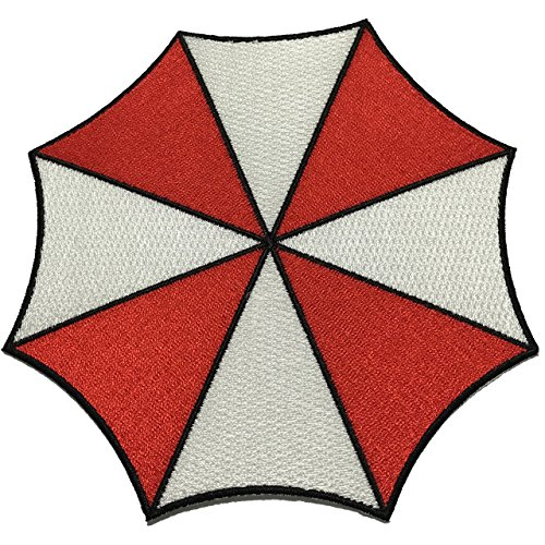 Resident Evil Umbrella Patch Stars Corporation Large Size Applique Embroidered Sew Iron On - APPLIQUE EMBROIDERED - Clothing Shirts Pants Novelty Iron on with heat or sew on - Decorate Bags Caps Towels - Safe Non-toxic - 100% (Cheer Bows One Direction compare prices)