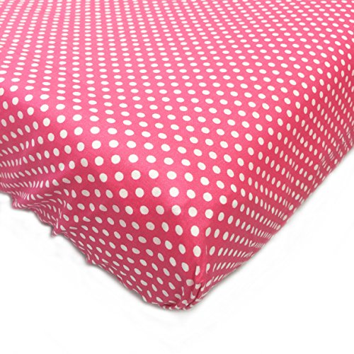 One Grace Place Simplicity Hot Pink Changing Pad Cover, Hot Pink and White