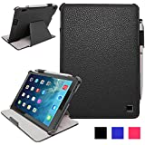 iPad Air 2 Case - KAYSCASE Bookshell Case Compatible with Apple iPad Air 2 case, 6th Generation (2014 Release) 9.7 inch tablet with Sleep/Wake Function (Lifetime Warranty) (Black)