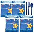 Party Essentials Medium-Weight Hard Plastic Cutlery Combo Pack