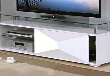 Heartlands Rowley High Gloss Tv Cabinet-White