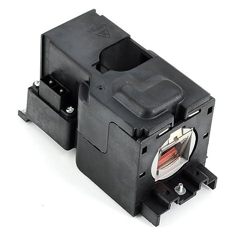 Projecteur haiwo TLPLV4de haute qualité Ampoule de projecteur de remplacement compatible avec boîtier pour Toshiba tdp-s20/S21/SW20/s20b/s20u/s21b/sw20u; tlp-s20/S21/SW20; S21/SW20.