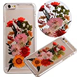 """Case for Iphone 6S,Fifine Iphone 6s case ,Real Pressed Colorful Flowers Phone Case for Iphone 6/6S 4.7""""(458-Iphone 6 4.7 Inch)"""