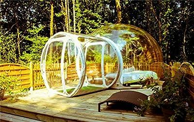 LeaningTech  5m バブルテント シングルトンネル  全透明 現代アート スケルトン 音遮断 キャンプ 透明な球体 アウトドアライフ おしゃれ