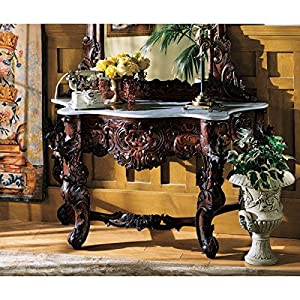 Design Toscano GR325 Hapsburg Marble Topped Console Table