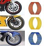 MyArmor ホイールリムステッカー 3色(レッド・ブルー・イエロー)各1セット 17インチ/18インチ両用タイプ 反射シート バイク/スクーター/自転車用