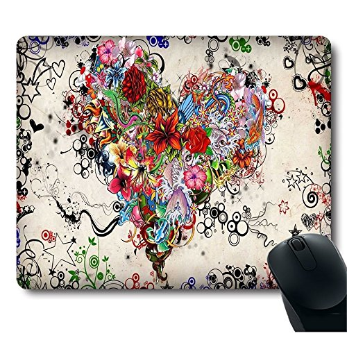 Tattoo heart Top Game Mouse Pad PC Computer Gaming Mousepad Fabric + Rubber Material (Computer Game Pad compare prices)