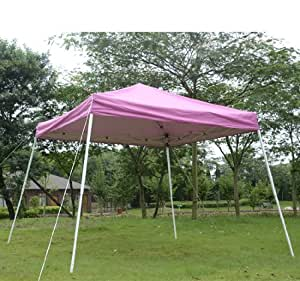 outsunny slant leg easy pop up canopy party tent 10 x 10 feet pink sun shelters. Black Bedroom Furniture Sets. Home Design Ideas