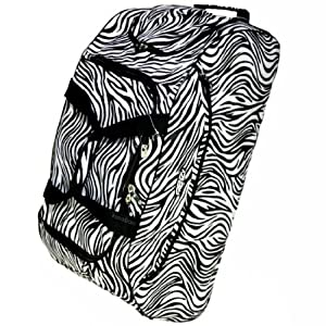 Extra Large 30 Inch Frenzy Wheeled Holdall Bag (Zebra Black)