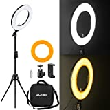 Zomei 14-inch Outer Dimmable SMD LED Ring Light Kit (41W 5500K) with 70-inch Light Stand - Plastic Color Filter - Phone Holder & Carrying Bag for Makeup Camera Smartphone Youtube Video Shooting