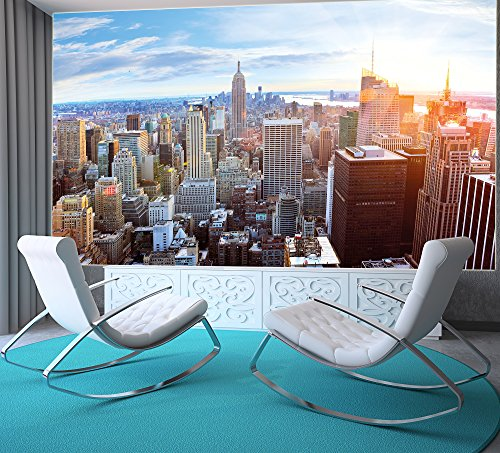 galleon new york penthouse skyline photo wallpaper manhattan panorama view mural xxl. Black Bedroom Furniture Sets. Home Design Ideas