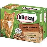 Kitekat Katzenfutter Jagdschmaus in Soße, 48 Beutel (4 x 12 x 100 g)
