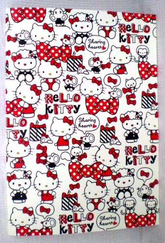 [Hello Kitty]A5 notebook Ribbon pattern border