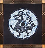 Blue Dragon - Chinese Four Mythical Beasts Series Handmade Batik Tapestry Wall Painting Hanging