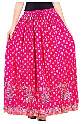 Magnus Women's Long Skirt (SKT4003, Pink, L)