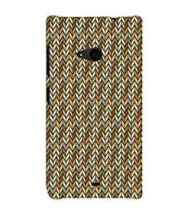 Tree Chevron 3D Hard Polycarbonate Designer Back Case Cover for Nokia Lumia 535 :: Microsoft Lumia 535