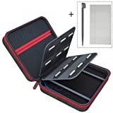 6amLifestyle Carrying Case Compatible for Nintendo 2DS Cover Bags with 18 Game Card & Stylus Storage Holders, Black (Color: 2DS Case, Black)
