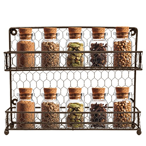 Sorbus Spice Rack Multi-Purpose Organizer- 2 Tier Wall Mount or Counter Top Display Storage Spice Rack (Pull Out Countertop compare prices)