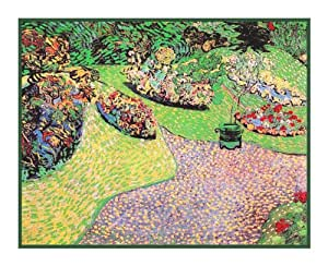The Garden In Auvers By Vincent Van Gogh