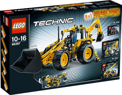 LEGO Technic 66397 - 4-in-1 Super Pack 8069 + 8067 + 8065 + 8047