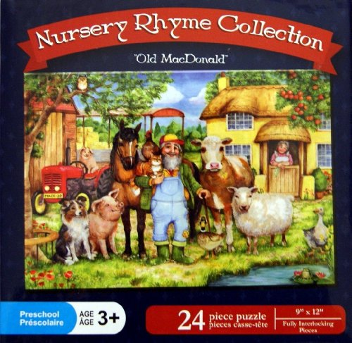 "Nursery Rhyme Collection ""Old MacDonald"" 24 Piece Puzzle - 1"