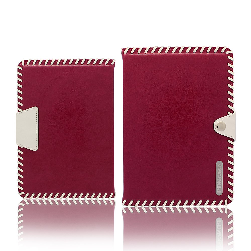 PDNCASE iPad Air Cases Genuine Leather Wallet Case Compatible for iPad Air Color Claret RedCustomer reviews and more info