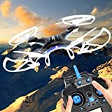 JJRC H5P 2.4GHz 6 Axis Gyro Drone 4 Channels 3D Roll Headless RC Quadcopter with 2.0MP HD Camera Black