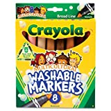 Crayola® - Washable Markers, Conical Point, Multicultural Colors, 8/Pack - Sold As 1 Set - Multicultural markers featuring eight skin-tone colors help children learn about self, family and community.