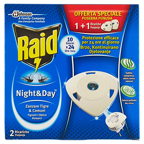 Raid Night & Day Zanzare - 2 Ricariche