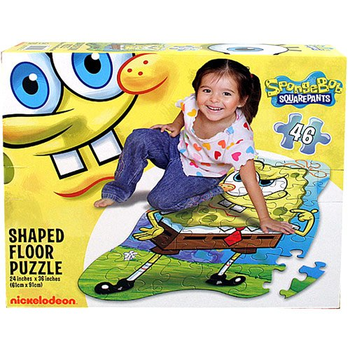 Cheap SpongeBob Squarepants SpongeBob SquarePants Shaped Floor Puzzle [46 Pieces] (B004SO13UA)