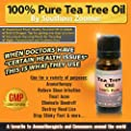 100% Pure Tea Tree Essential Oil - Australian Melaleuca Alternifolia (Highly Concentrated with No Synthetics). Free Guide to discover the Uses & Benefits. 1 oz of the Best Quality Oil with Antiseptic, Antifungal & Antibacterial Therapeutic Properties - Us