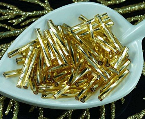 80x-x-20mm-extra-luce-oro-argento-foderato-giro-di-vetro-ceco-perline-bugle-preciosa-tubi