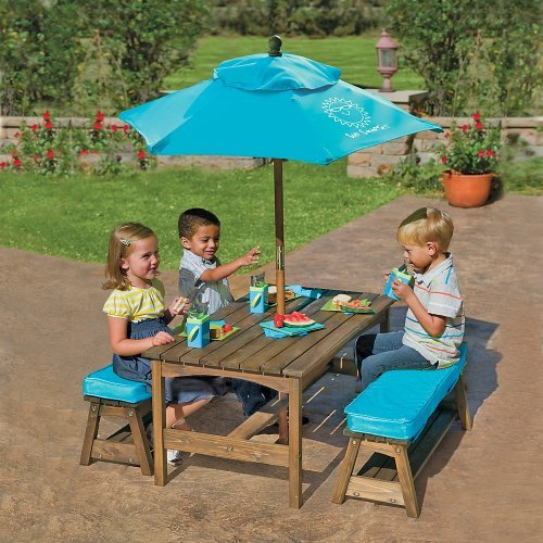 Where to buy sun smarties kids picnic table benches with - Children s picnic table with umbrella ...