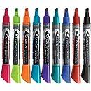 Quartet Dry Erase Markers, EnduraGlide, Chisel Tip, BOLD COLOR, Assorted Colors, 12 Pack (5001-20M)