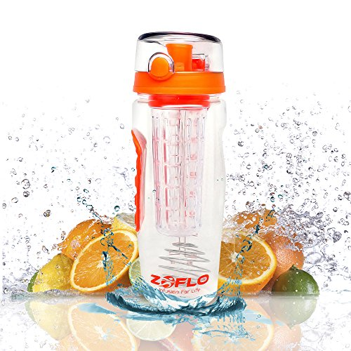 Original 3-in-1 32 Oz Blender Bottle Infuser Water Bottle - Premium Bottle, Infuser and Shaker Bottle All in One! Use As Large Water Bottle, 32 Oz Fruit Infuser or Protein Shaker Bottle. Eco Friendly Shatter Proof Tritan Plastic - Durable Flip Top Lid - Large 32 Oz - Mixer Ball Blender - Free Recipes (Water Bottle Fruit Mixer compare prices)