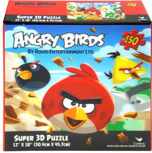 "Angry Birds 150 piece Super 3D Puzzle 12"" X 18"" - 1"