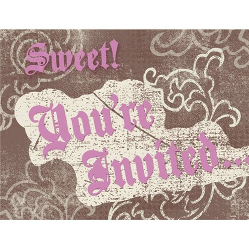 Sweet 16 Birthday Invitations (8 count) - 1