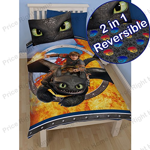 Dreamworks How To Train Your Dragon 2 Toothless Panel Duvet Cover