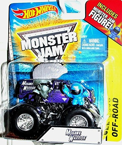Hot Wheels 1:64 Scale Monster Jam Off-road Mohawk Warrior Includes Figure! - 1