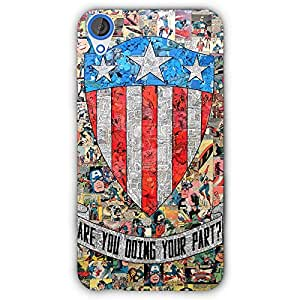 EYP Superheroes Captain America Back Cover Case for HTC Desire 820
