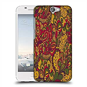 Snoogg vector seamless texture with abstract flowers endless background ethnic sea Designer Protective Back Case Cover For HTC one A9