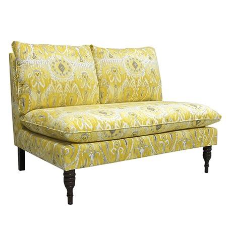 Skyline Furniture Armless Settee, Alessandra Lemon