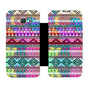 Skintice Designer Flip Cover with Vinyl wrap-around for Samsung Galaxy J2, Design - Aztec