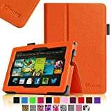 Fintie Amazon All New Kindle Fire HD 7 inch Slim Fit Folio Case with Auto Sleep / Wake Feature (will only fit All New Kindle Fire HD 7 2013 Model) - Orange