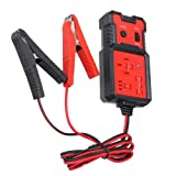 VECANCE 12V Car Battery Checker Electronic Relay Tester with Alligator Clips, Auto Relay Testing Tool Accurate Diagnostic Tool, Portable Automotive Parts (Color: Red)
