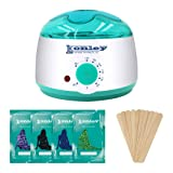 Wax Warmer, Hair Removal Waxing Kit, Electric Wax Heater with 4 Hard Wax Beans and 10 Wax Applicator Sticks, Depilatory Machine for Facial Skin, Body and Bikini Area for Women and Men (Color: Green, Tamaño: 20cm*19cm*15cm)