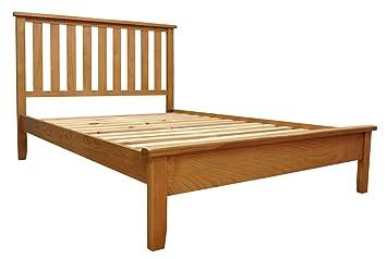 Buxton Oak 5ft King Sized Bed Frame in Waxed Oak Finish | Wooden Bedroom Furniture