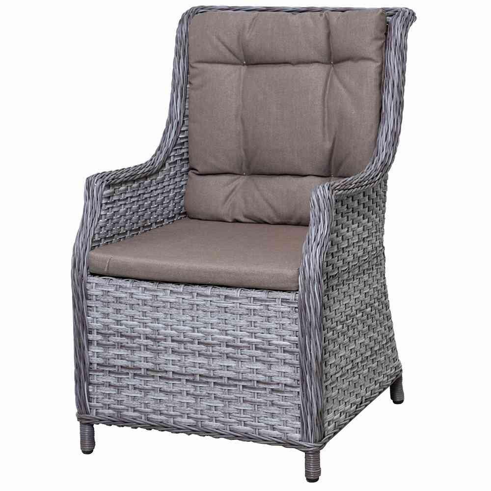 Siena Garden 283203 Delgada Sessel hellgrau Kissen taupe 100% Polyester online kaufen