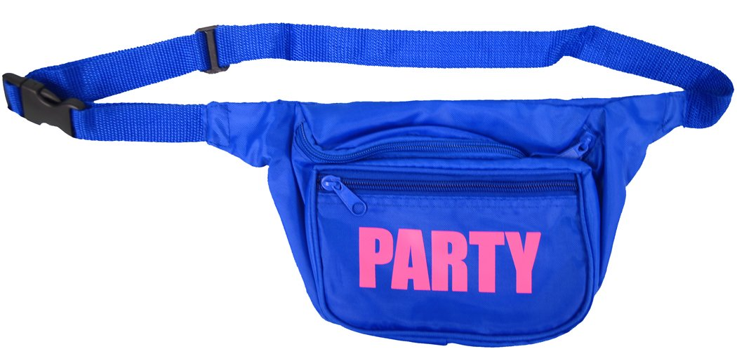 Party Blue Neon Fanny Pack - Also available in Black, Green, Pink, Orange, Yellow