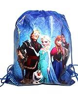 Kids Cartoon Character Double Print Drawstring PE Shoe Swimming Bag Gym Nursery Backpack Frozen